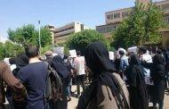 تظاهرات دانشجویان در مراسم تشییع جنازه دکتر قانعی راد