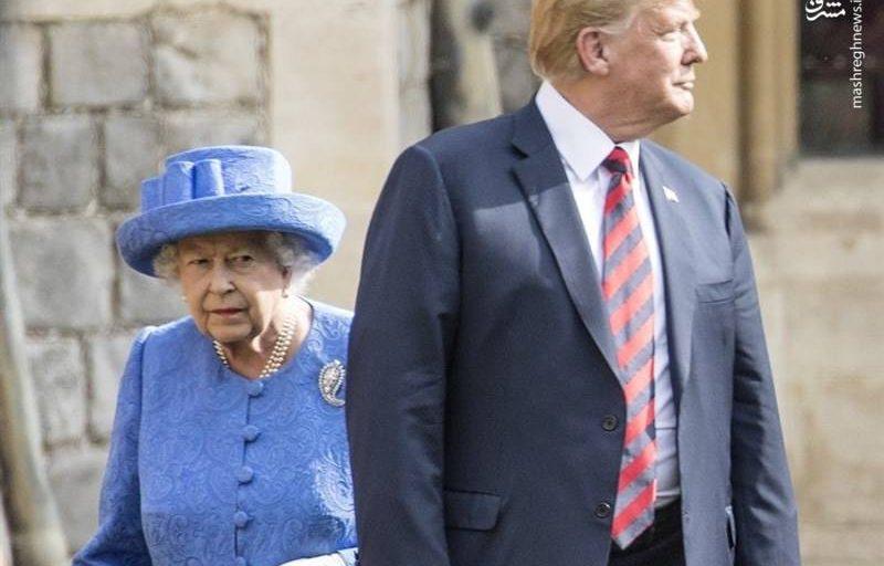 توهین ترامپ به ملکه انگلیس + فیلم
