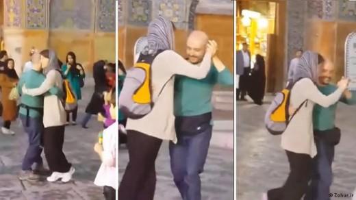 رقصیدن در جلوی مسجد برای حمایت از مائده هژبری