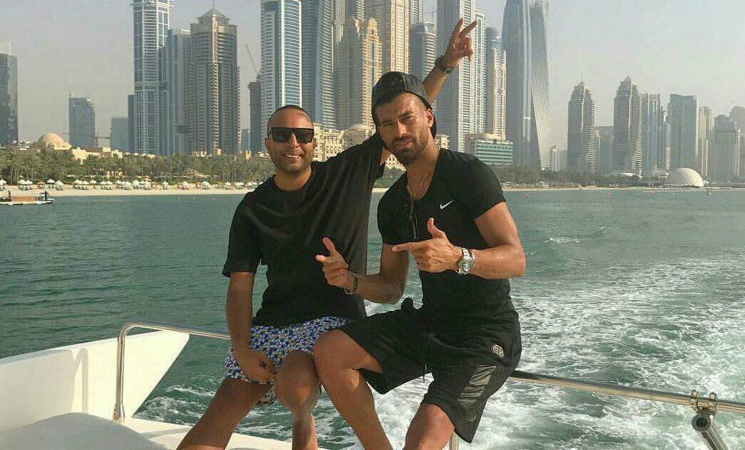 تعطیلات رامین رضاییان همراه آرش در دبی