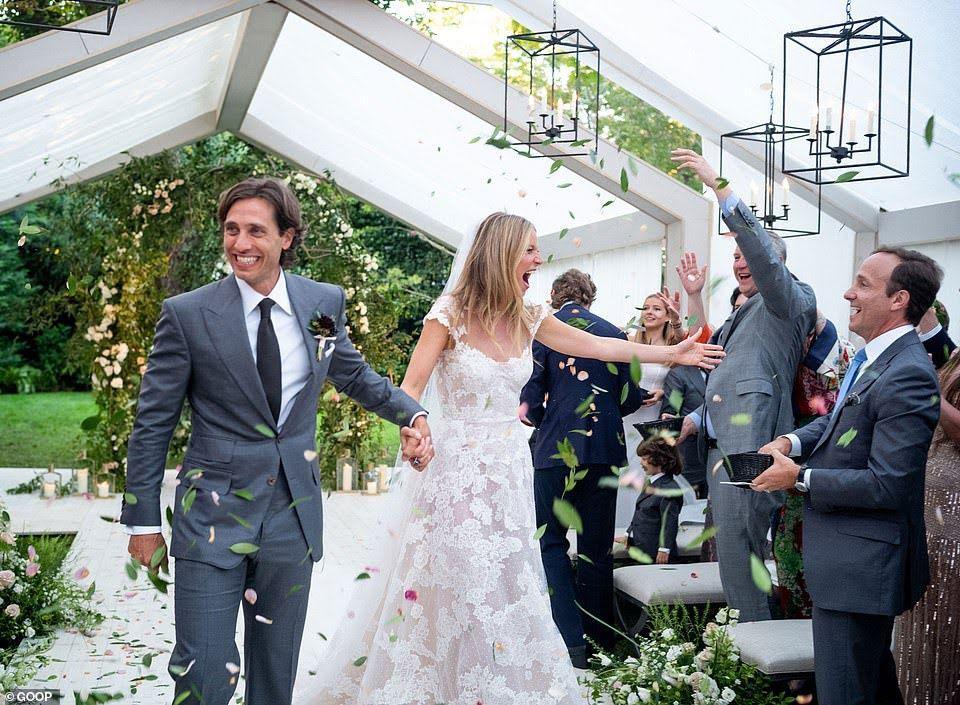 گویینت پالترو هنرپیشه مشهور هالیوودی ازدواج کرد
