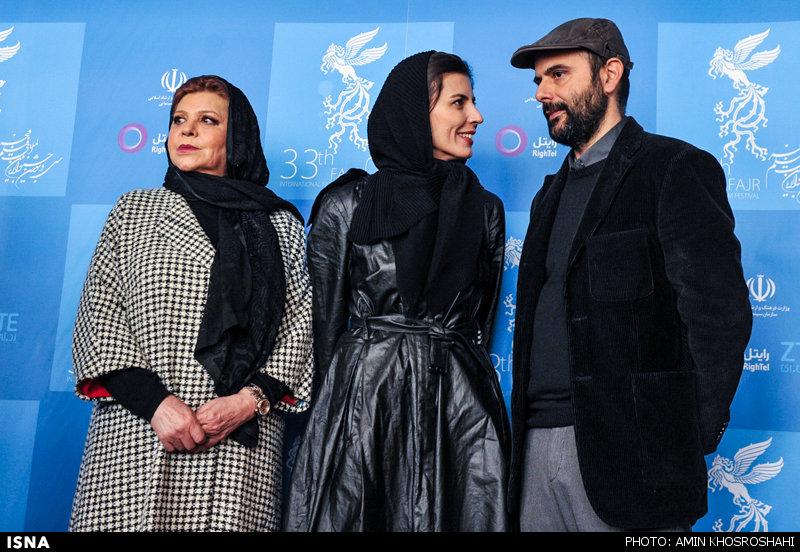 ظاهر ساده لیلا حاتمی در جشنواره فجر