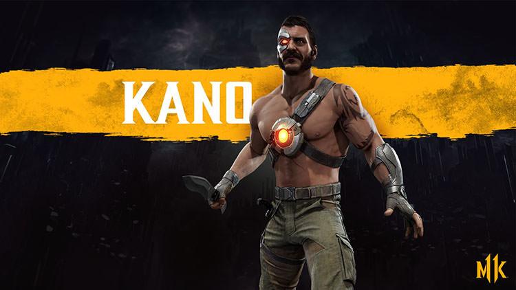 ظاهر رسمی شخصیت کِینو در بازی Mortal Kombat 11