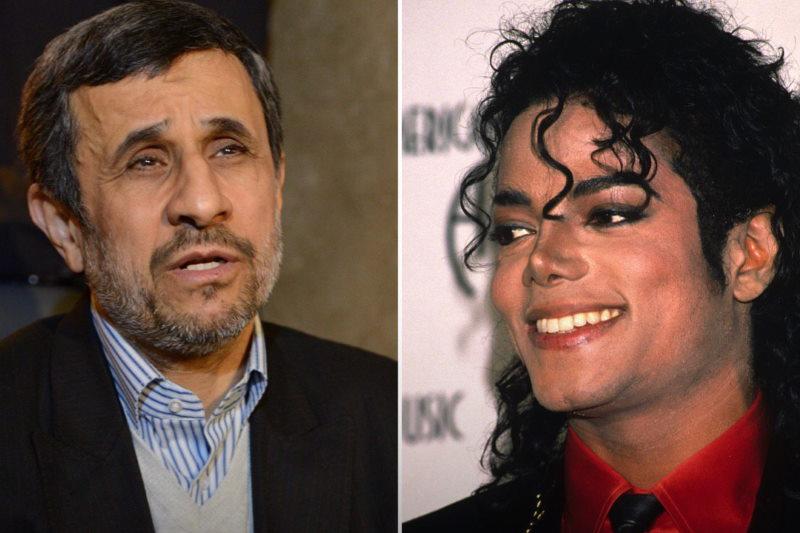 نظرات مردم درباره ماجرای مایکل جکسون و احمدی نژاد