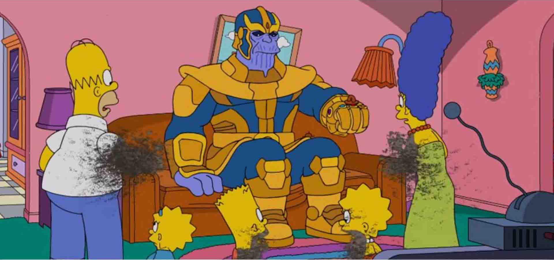 تانوس و اونجرز در سریال سیمپسون ها