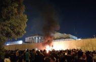 آتش زدن کنسولگری ایران در کربلا توسط مردم عراق + عکس