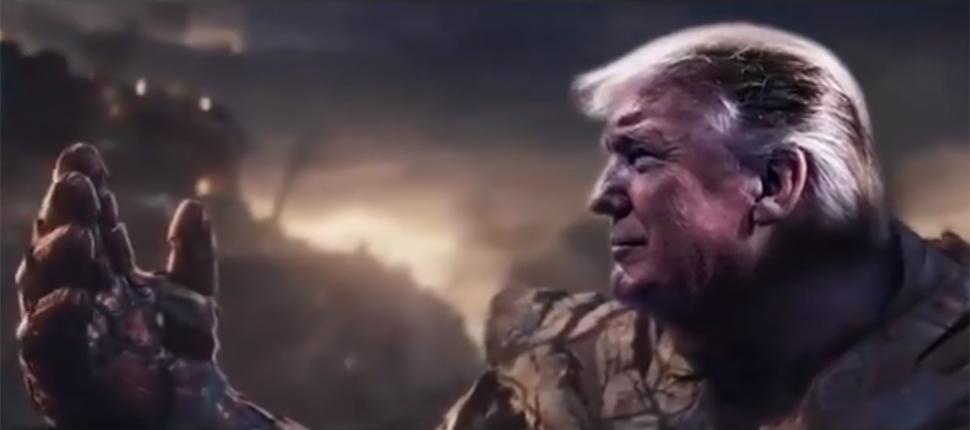 توییت جنجالی ترامپ در قالب شخصیت تانوس