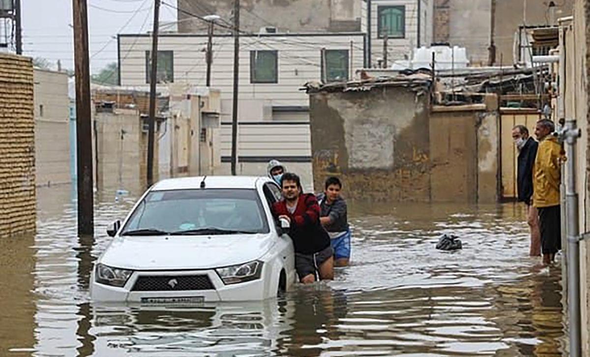 سیل وحشتناک در بوشهر
