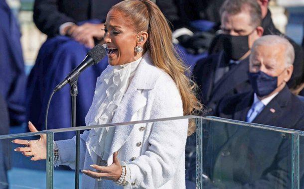 اجرای زیبای جنیفر لوپز در مراسم تحلیف بایدن