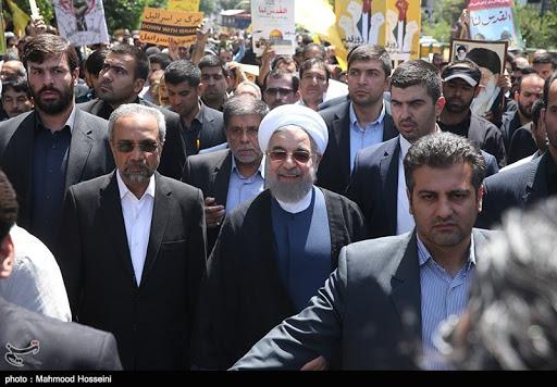 شعار مرگ بر روحانی در تظاهرات موتوری اصفهان