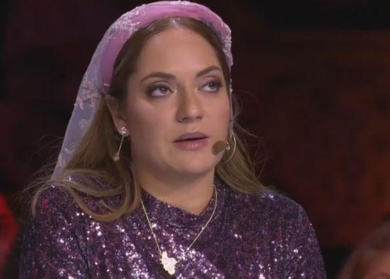 حجاب عجیب و غریب مهناز افشار در برنامه پرشین گات تلنت