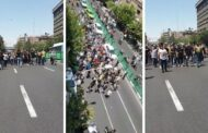 اعتراض های گسترده در خیابان جمهوری تهران